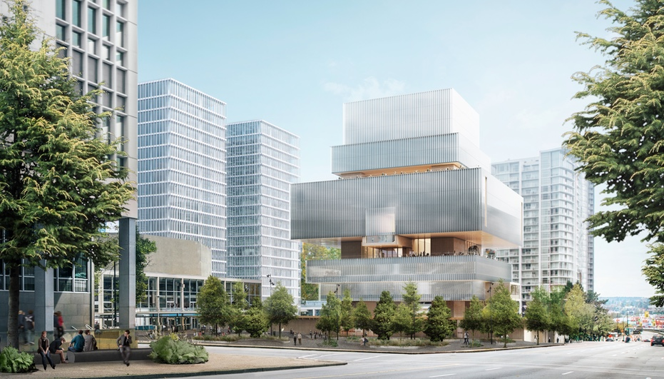 The new, glass-clad renderings of the Vancouver Art Gallery are all © Herzog & de Meuron