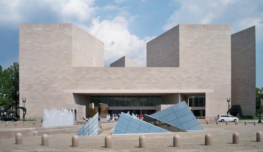 National Gallery of Art, East Building, Washington, D.C. (1978). Photo by Matt Bisanz via Wikimedia Commons.